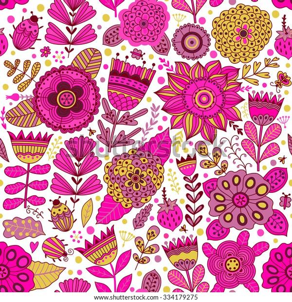 Seamless Stock Botanic Pattern Texture Vector Flower