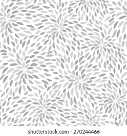 Vector flower pattern. Seamless floral background. Hand-drawn petals.