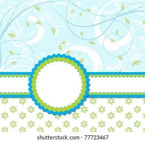 vector flower scrap background