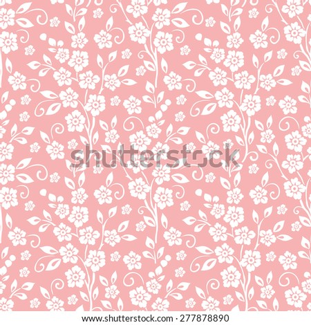 Vector flower seamless pattern background. Elegant luxury texture for wallpapers, backgrounds and page fill