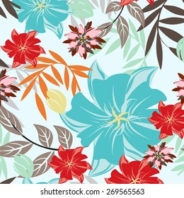 Vector Flower Seamples Pattern Texture