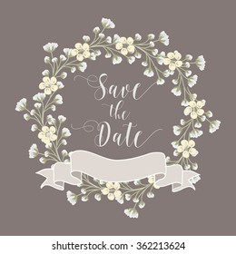 Vector flower wreath / Baby breath / Flower
