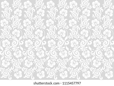 Vector flowers background Seamless Pattern.