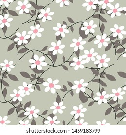 vector flowers design  pattern on backgorund