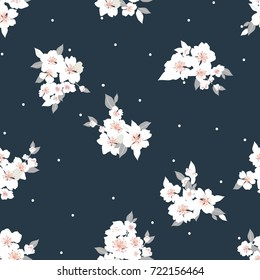 vector flowers pattern, background with floral pattern