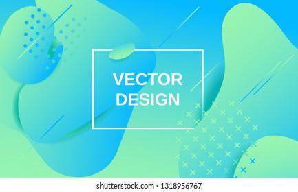 Vector fluid shapes gradient composition design template background