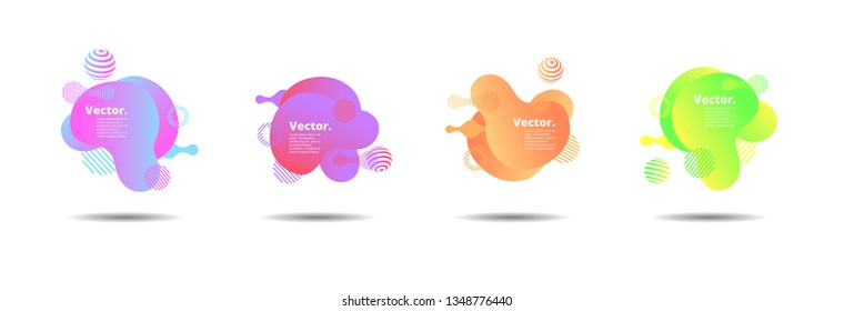 Vector fluid for text Vector graphics for hipsters. dynamic frame stylish geometric black background. element for design business cards, invitations, gift cards, flyers, brochures and landing page