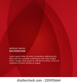 Vector flyer. Abstract red background