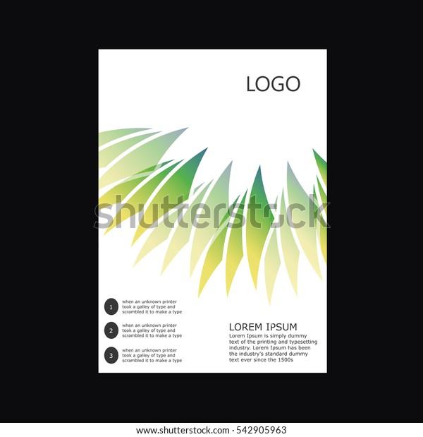 vector flyer brochure design template
