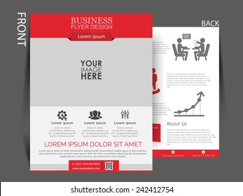 Vector Flyer, brochure, magazine cover template can be use for print and publishing.