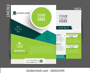 Vector Flyer, brochure, magazine cover template can be use for marketing.