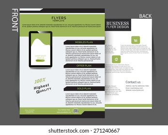 vector flyer, brochure, magazine cover template.