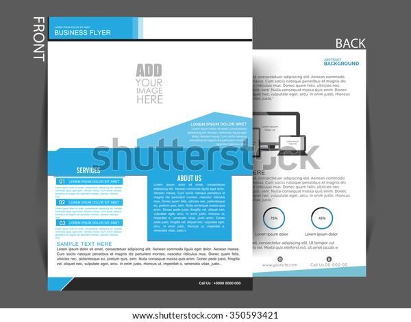 Vector Flyer Brochure Magazine Cover Design Stock Vector Royalty Free 350593421