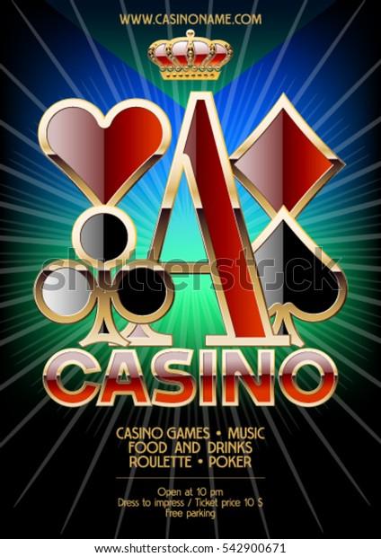 Vector flyer for casino night