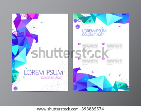 vector flyer colorful brochure abstract design stock vector royalty