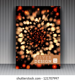 Vector flyer or cover design business. Editable illustration.