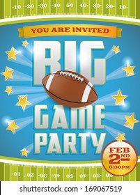 A vector flyer design perfect for tailgate parties, football invites, etc. EPS 10. File contains transparencies and gradient mesh. Text is layered for easy removal and customizing.