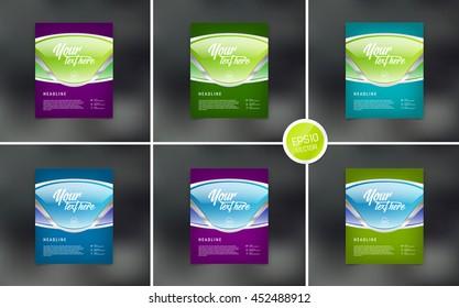 Vector flyer design templates collection