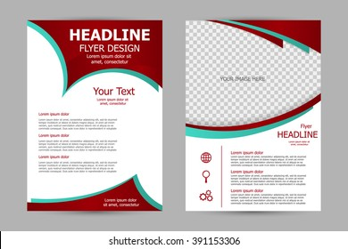 Vector flyer template design. For business brochure, leaflet or magazine cover