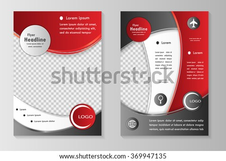 Vector flyer template design front page stock vector royalty free vector flyer template design with front page and back page business brochure or cover maxwellsz