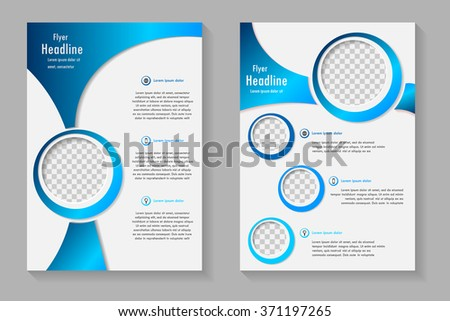 vector flyer template design front page のベクター画像素材
