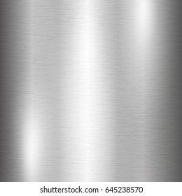 Vector foil silver metallic texture with shiny scratched surface, polished imitation background. Brushed steel glowing surface. Ice, cold theme design illustration for prints, posters, ads, banners.