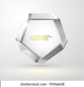 Vector folded metallic ribbon