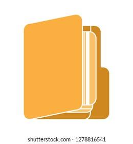 vector folder icon-storage symbol-data illustration-directory vector-computing icon