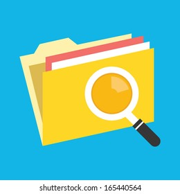 Vector Folder Search Icon