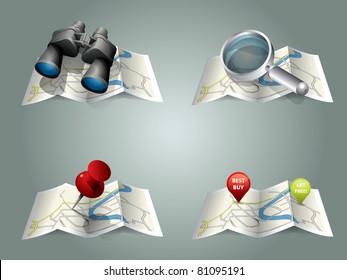 Vector folding map