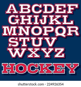 Vector font for college sport team