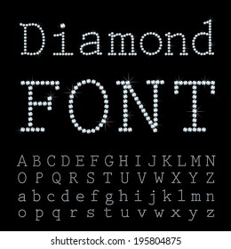 Vector font with diamonds.