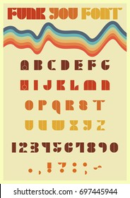 Vector Font from the Seventies