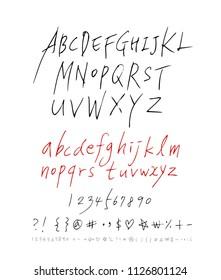 Vector fonts / Handwritten calligraphy