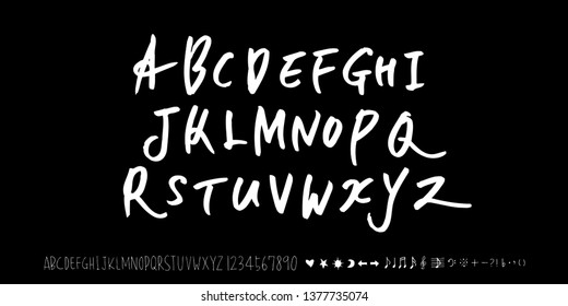 Vector fonts / Handwritten calligraphy