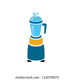 vector food blender illustration - kitchen appliance. mixer