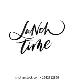 VECTOR FOOD HAND LETTERING. LUNCH TIME. ABOUT FOOD