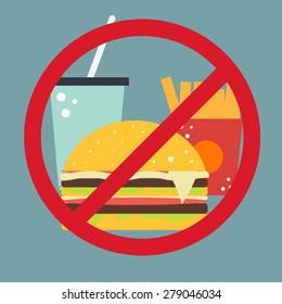 Vector food icon. No fast food.