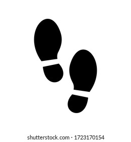 Vector foot silhouette. Human footprint sign or symbol. Keep distance symbol. Coronavirus or COVID-19. Black Footstep vector illustration isolated on a white background