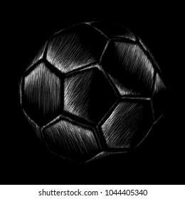 The vector football ball for soccer - print design for t shirt.