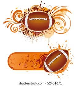 vector football design elements
