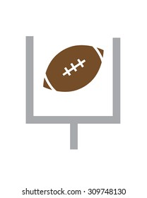 Vector Football and Field Goal Post Icon