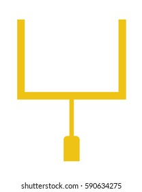 Vector Football Field Goal Post Set