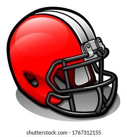 Vector football helmet cartoon isolated