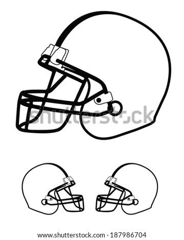 vector football helmet template set image vectorielle de stock
