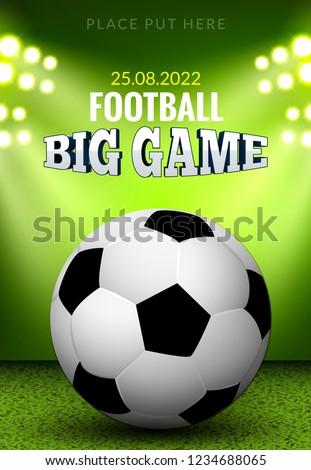 vector football poster flyer template soccer stock vector royalty