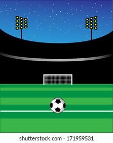 Vector football stadium artwork