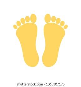 vector footprint illustration - human foot print symbol, feet silhouette isolated