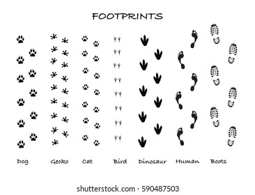 vector footprints silhouettes