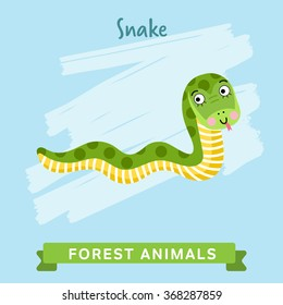 Vector forest Animal, Snake.